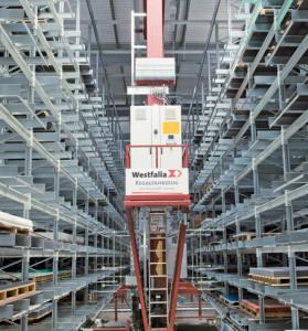 Modern high-bay warehouse